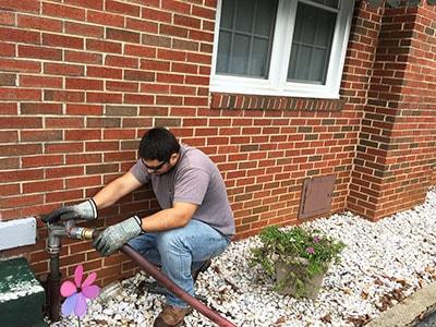 Von Eiff Oil Worker Delivering Home Heating Oil